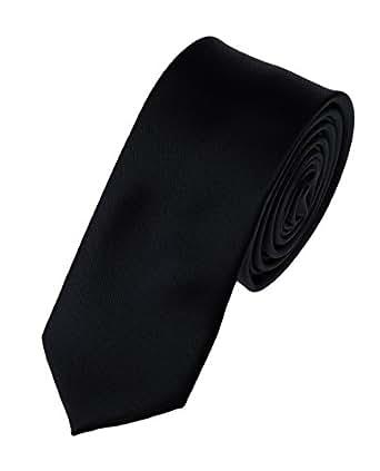 """NYfashion101 Mens Solid Color 2"""" Skinny Tie- Black"""
