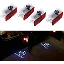 GANKING Car Door LED Light Projector Ghost Shadow Lights Welcome Lamp for Mercedes-Benz E A B C ML Class w212 w166 w176 Series(4 Pack)