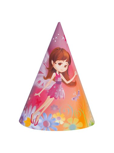Unique Industries Fairy Whimsy Party Hats 8 ct