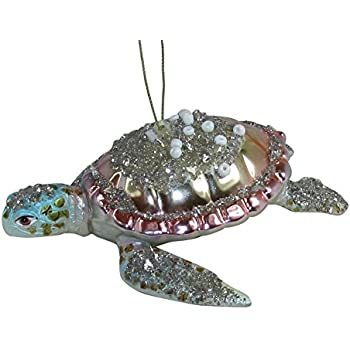 Amazon.com: Acrylic Sea Turtle Hanging Christmas Ornament: Home ...