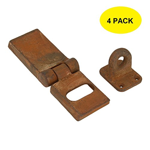 Set of 4 Rusted Chest Trunk Hasp 8 Inches Rust Finish Safety Latch by A29