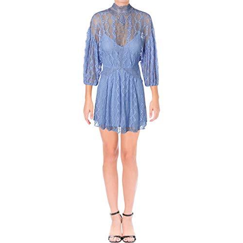 (Free People Women's Bittersweet Dolman Mini Dress (2, Boardwalk Blue) )