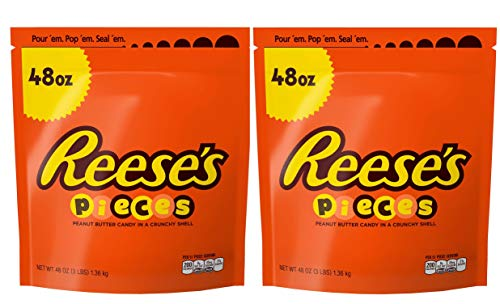 REESE'S Pieces Peanut Butter Candy, Halloween Candy, Bulk Candy -