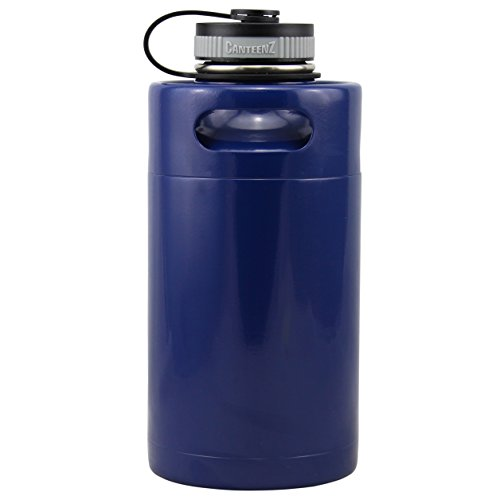 - Med Blue Vacuum Insulated 64oz Stainless Steel Mini Keg Beer Growler