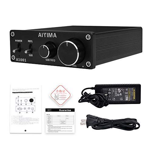 AIYIMA TPA3116D2 Subwoofer Amplifier Class D HiFi Mono Digital Audio Power Amplifier Board,Full-Frequency & Sub Bass Switchable Stereo Amplifier 100W Home Theater amplifiers DC12-24V Mono Amp (Black)