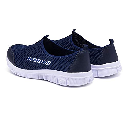 Suola Blue Couple Shoes Casual Leggero Slip Corsa Mocassini Lover Scarpe on Da Roadromo Piatta Dark 4P6Ag