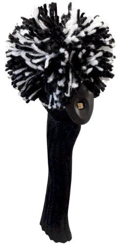 Classic Knit Spandex Pom Pom Head Cover for Hybrids by JP Lann, Outdoor Stuffs