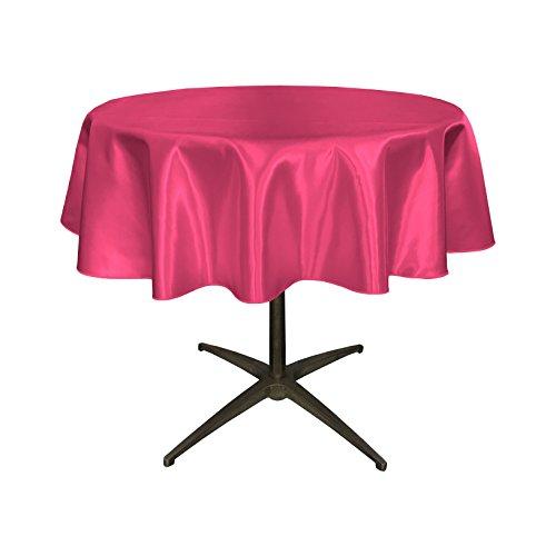 LA Linen Bridal Satin Round Tablecloth, 51-Inch, - Bridal Wholesale Satin