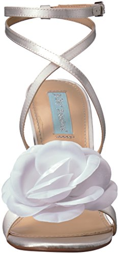 Blue by Betsey Johnson Women's SB-Terra Heeled Sandal Ivory Satin NjVv4DW