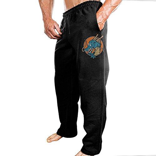 Dragon Ball Z Logo Sports Jogger Sweatpants For Men's Black