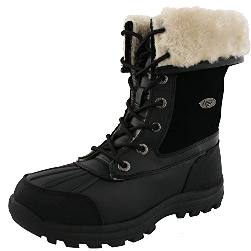 Lugz Women's Tambora Winter Boot, Black/Cream, 6.5 M US