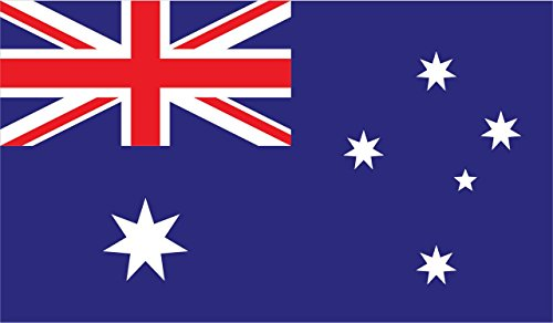 (2-Pack Australia Flag Decal Sticker | 5-Inches By 3-Inches | Premium Quality Vinyl | PD377)