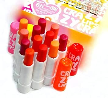 FIRSTZON Crazy lips lip balm combo pack of 12 MIX