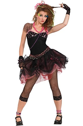 80s Diva Disco Pop Star Adult Halloween (Zombie Pop Star Halloween Costume)