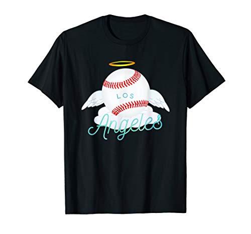 (Los Angeles Angel Ball Tshirt Cool Baseball Team Design)