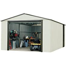 Arrow Murryhill High Gable Steel Storage Shed, Coffee/Almond, 12 x 31 ft.