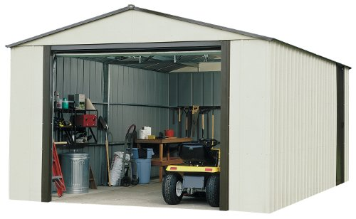 Arrow VT1217 Vinyl Coated Murryhill 12-Feet by 17-Feet Heavy Duty Steel Storage Shed