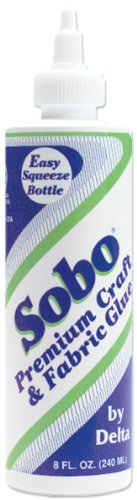 Plaid Delta 108 Sobo Premium Craft and Fabric Glue, 8-Ounce (Cloth Adhesive)