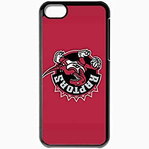 Personalized iPhone 5C Cell phone Case/Cover Skin Nba Toronto Raptors 4 Sport Black
