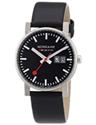 Mondaine Men's A669.30300.14SBB Big Date Evo Leather Band Watch