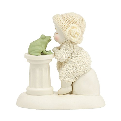 Department 56 Snowbabies My Prince Baby and Frog Kiss Porcelain Figurine