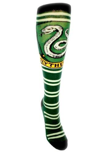 Harry Potter Slytherine Juniors Knee High Socks (Slytherine Green)  (size:9-11 shoe size:5-10 Ages - High Juniors Knee Socks