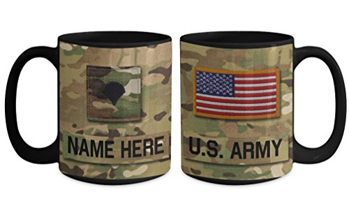 SPC), E4 Mug - Personalized - Customize with Name/Text/Rank; 15 oz Cup - Gift for Veteran, Dad, Husband, Mom, Wife, Brother, Sister, Son, Daughter (Drop Zone Army Navy)