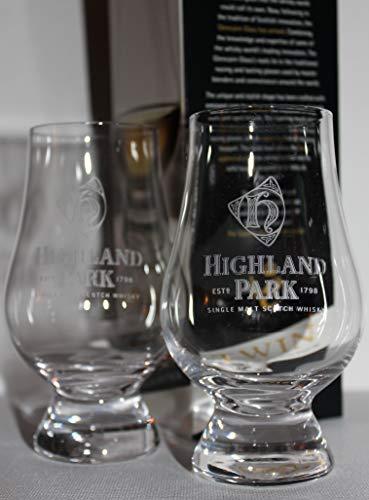 HIGHLAND PARK TWIN PACK GLENCAIRN SCOTCH MALT WHISKY TASTING GLASSES
