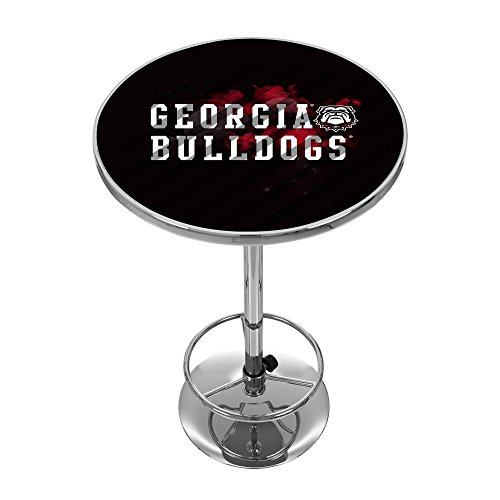Georgia Pub Table - Trademark Gameroom University of Georgia Chrome Pub Table - Smoke