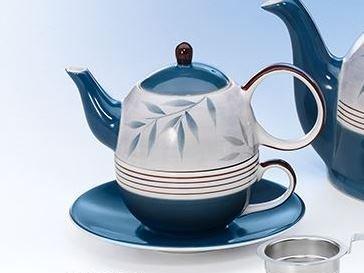 Tea for one Set Jesse Keramik, 4-teilig Kanne: 0,4 l, Tasse: 0,2 l Dethlefsen + Balk