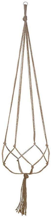rongweiwang Tiesto Percha jardín Interior Tiesto Titular de la Cuerda Que cuelga del Techo Balcón Yute Titular de la Cuerda del plantador, 122cm