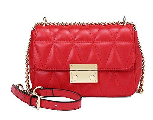 Casual Bag Small Bag Fashion Handbags Lingge Fashion Crossed The Red Bags