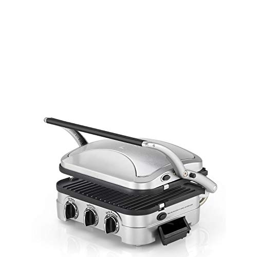 Cuisinart Griddle & Grill | Non-Stick Removable Plates | Stainless Steel | GR4CU