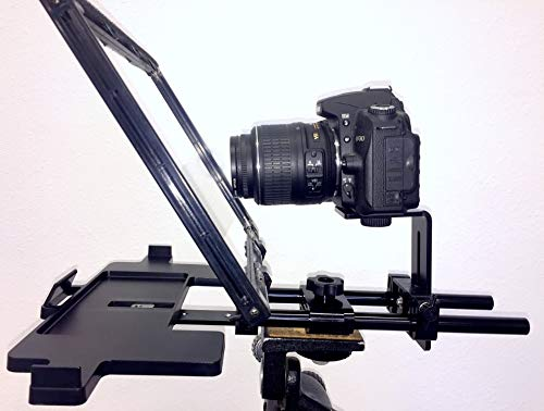 Teleprompter Simple Professional Portable use Any Tablet, iPad or Phone. 70/30 Beam Splitter Glass. (Canon Mini Beam Video)