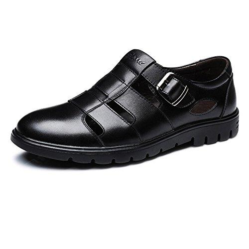 abrasión Zapatos EU hombre Color blanda transpirable de la superior Resistente amp;Baby de piel suela Negro a genuino tamaño Negro Cuero 46 de Cuero corte Sunny de clásico vaca antideslizante 5wqBcpqt