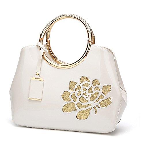 sac sac Mode sac OL porté main Ivoire style Fleur à avec bandoulière dame main à Femmes Mode Noir 1X14rHq