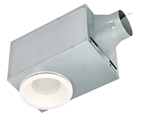 Recessed Fan Bathroom - Delta Breez REC80LED 15.6W 1.5 Sones Recessed Series 80 CFM Recessed Fan/LED Light & Nightlight
