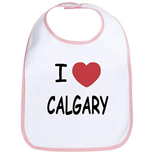 CafePress I Heart Calgary Bib Cute Cloth Baby Bib, Toddler - Heart Flames Calgary