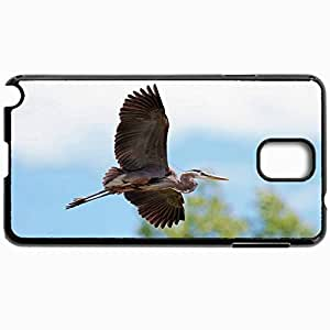 Customized Cellphone Case Back Cover For Samsung Galaxy Note 3, Protective Hardshell Case Personalized Bird Sky Flight Black