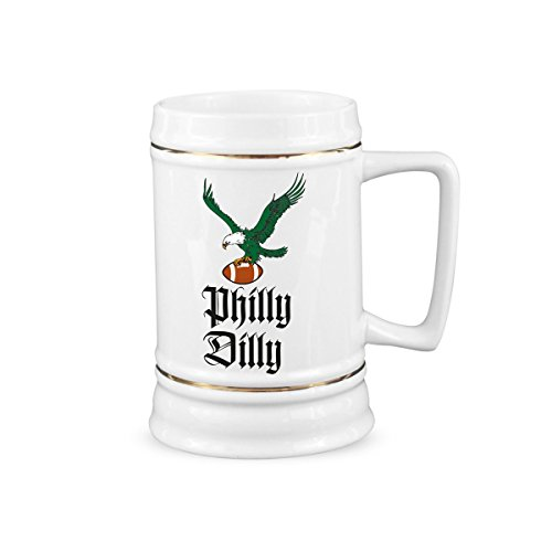 Used, Philly Dilly Beer Stein Philadelphia Eagles Mug Eagles for sale  Delivered anywhere in USA