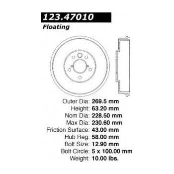 Centric Parts 123.40010 Brake Drum
