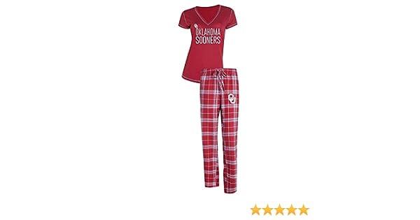 Concept Sport Oklahoma Sooners Adult NCAA Achieve Fleece Pajama Pants Gray,