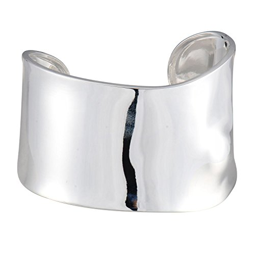 Sterling Silver Sculptural Open Cuff Bracelet, 7 by Morgan & Paige
