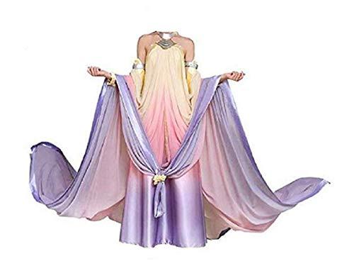SevenJuly1 Queen Padme Amidala Costume Women Halloween Cosplay Dress 3XL -