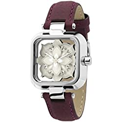 "ZERONE Crossover Sasu ""Mini Untitled"" White Silver Analogue Watch With Leather Strap"
