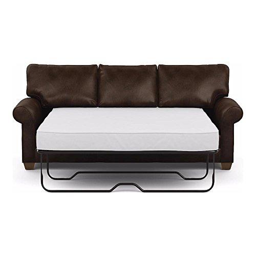 Ethan Allen Bennett Roll-Arm Leather Sofa, 86