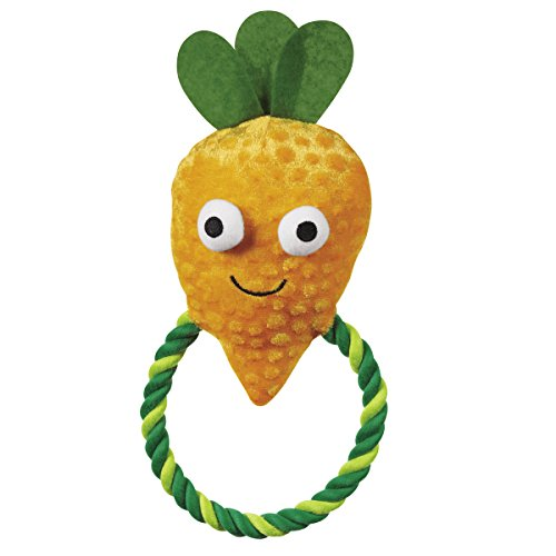 (Grriggles Happy Veggies Rope Tugs Dog Toys, Carrot, 9