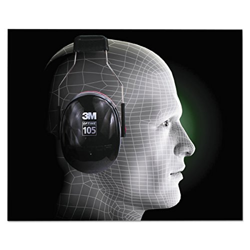 3M Peltor Optime 105 Over the Head Earmuff, Ear Protectors, Hearing Protection, NRR 30 dB by 3M (Image #4)