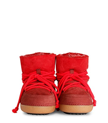 IKKII , Chaussures bateau pour femme rouge rouge