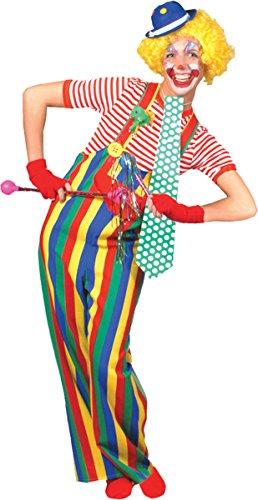 Morris Costumes Men's STRIPED CLOWN OVERALLS AD LG (Striped Clown Overalls Costume)